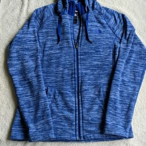 North Face Blue Zip Up Fleece